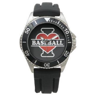 Montres Bracelet J'aime le base-ball