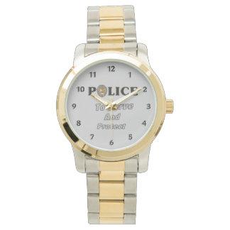 Montres Bracelet La police se protège et sert