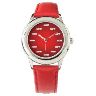 """Montres Bracelet Le cool """"MAINTENANT"""" observent (le rouge)"""