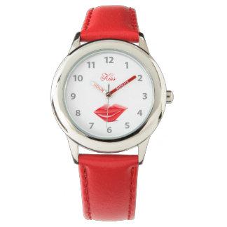 Montres Bracelet Lèvres rouges
