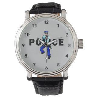 Montres Bracelet Logo d'action de police