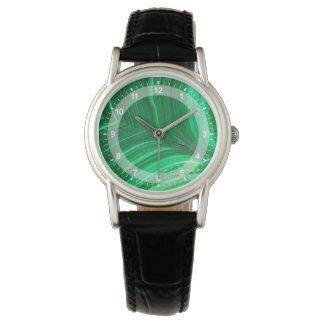 Montres Bracelet Minerai vert clair de malachite