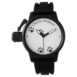 Montres Bracelet Modèle d'empreintes de pas de chien