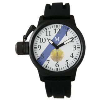 Montres Bracelet Monogramme : Blue Line mince. Anniversaire de 1 an