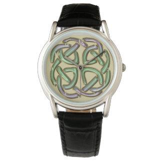 Montres Bracelet Montre-bracelet celtique de noeud d'or métallique