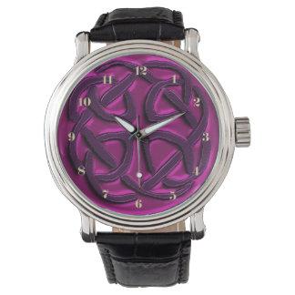 Montres Bracelet Montre-bracelet celtique métallique de noeud de