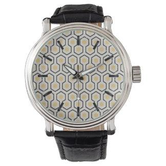 Montres Bracelet Motif de grille coloré de nid d'abeilles