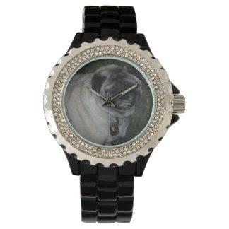 Montres Bracelet Noir d'acier inoxydable de Carlin-Coutume