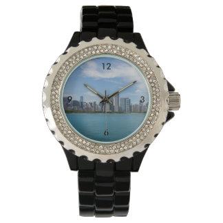 Montres Bracelet Paysage urbain de jour de Chicago