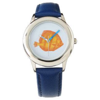 Montres Bracelet Poisson jaune : : Enfants horloge