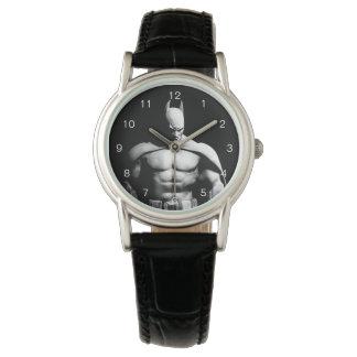Montres Bracelet Pose large noire et blanche de la ville | Batman