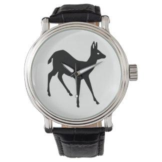 Montres Bracelet Silhouette de cerfs communs