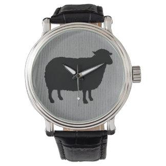 Montres Bracelet Silhouette de moutons noirs