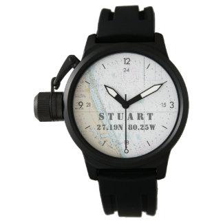 Montres Bracelet Stuart FL de latitude du chapeau en paille