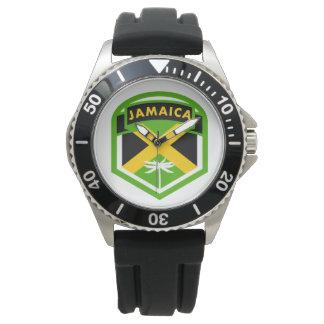 Montres Bracelet Style de logo de drapeau de la Jamaïque