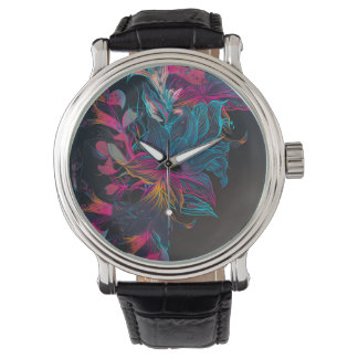 Montres Bracelet texture de luxe élégante de motif de fleur