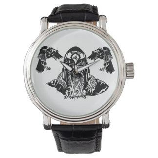 Montres Bracelet Tout-Père Odin avec Ravens