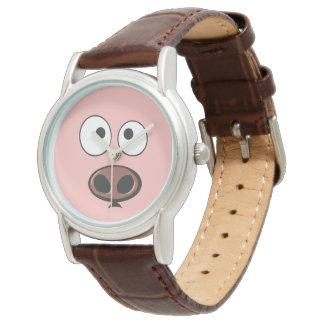Montres Bracelet Visage mignon de porc