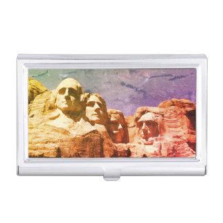 Monument 1974 présidentiel du mont Rushmore Étuis Pour Cartes De Visite