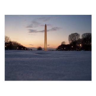 Monument de neige carte postale