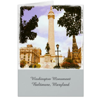 Monument de Washington Baltimore, carte de voeux