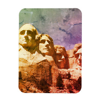 Monument national 1974 du mont Rushmore Magnets Rectangulaires