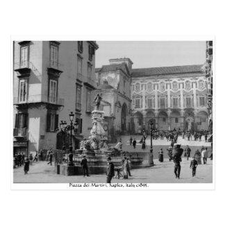 Monument vintage de Naples Italie - dei Martiri de Cartes Postales