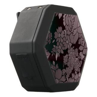 Mooi Fluorescent BloemenPatroon Zwarte Bluetooth Speaker