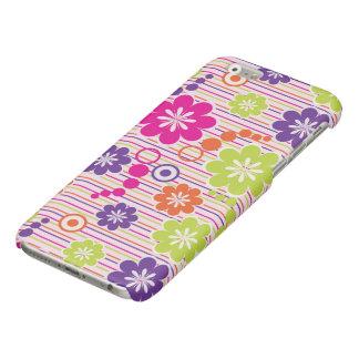 mooi kleurrijk bloemen vectorart. glossy iPhone 6 hoesje