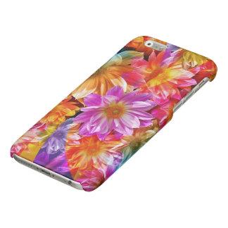 mooi kleurrijk bloemen vectorart. iPhone 6 hoesje glanzend