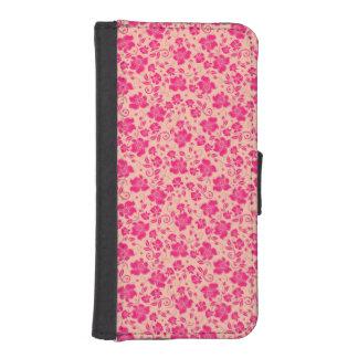 mooi roze bloemen vectorart. iPhone 5 portemonnee hoesjes