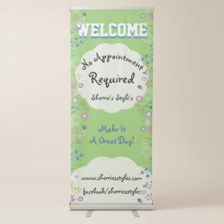 Mooie Bloemen Geen Benoeming Vereiste Zaken Roll-up Banner