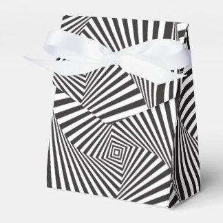 Mooie Zwarte witte spiraalvormige optische illusie Bedankdoosjes