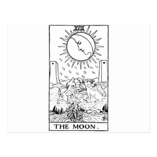 Moon de carte de tarot '