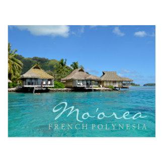 Moorea sur la Polynésie française avec les Carte Postale