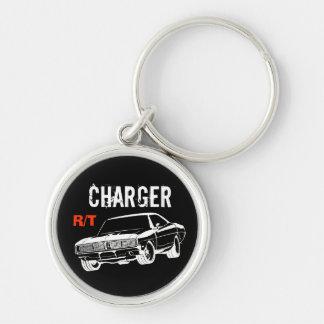 Mopar - en 1969 Dodge Charger R/T Porte-clé Rond Argenté