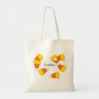 Morceaux aléatoires de bonbons au maïs à motif de tote bag