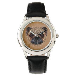 Mosaïque de chien montres bracelet