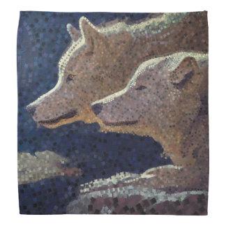 Mosaïque de loups - bandana