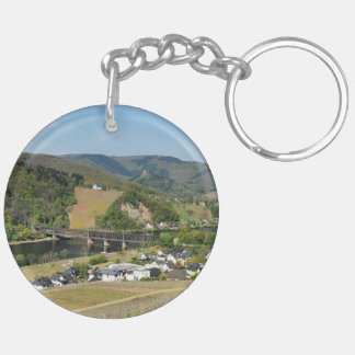 Moselle-vallée avec des Bullay Porte-clés