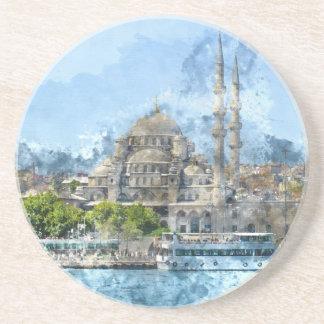 Mosquée bleue à Istanbul Turquie Dessous De Verre En Grès