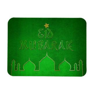 Mosquée d'or vert d'Eid Mubarak - aimant flexible Magnet Flexible