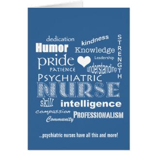 Mot Semaine-Psychiatrique d'infirmière Carte