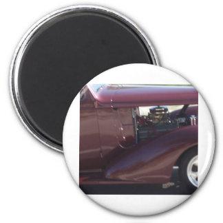 Moteur de voiture ancienne magnet rond 8 cm