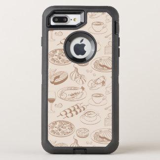 Motif 3 de nourriture coque otterbox defender pour iPhone 7 plus