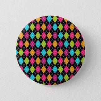 Motif à motifs de losanges coloré badge rond 5 cm