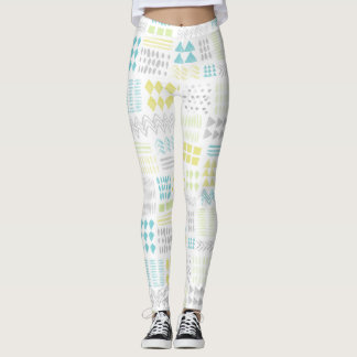 Motif abstrait de formes d'aquarelle leggings