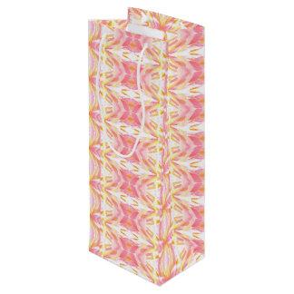 Motif abstrait de kaléidoscope - sac rose de