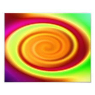 Motif abstrait de remous d'arc-en-ciel photo d'art