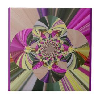 Motif abstrait floral carreau